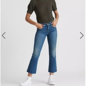 Lucky Brand Ava Mid Rise Crop Mini Boot Jeans